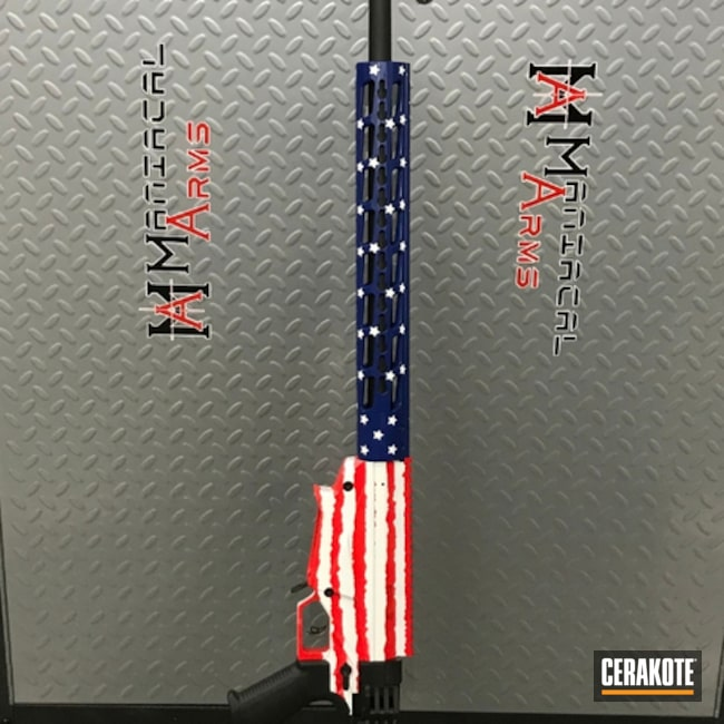American Flag Themed Ruger Rifle