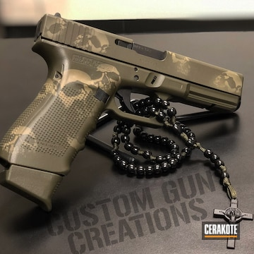 Cerakoted Glock With Skull Camo