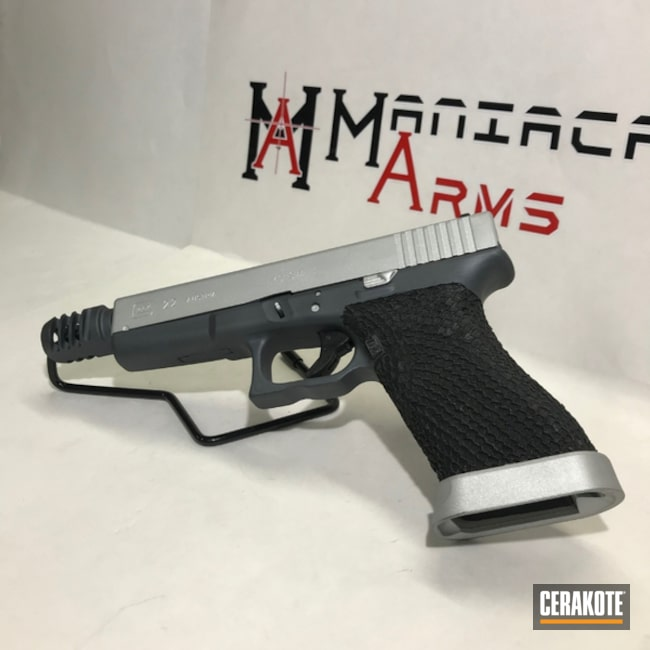 "Thumbnail image for project ""Glock 22 in Satin Aluminum and Sniper Grey"""
