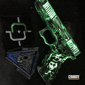 Cerakoted Glowing Glock 17