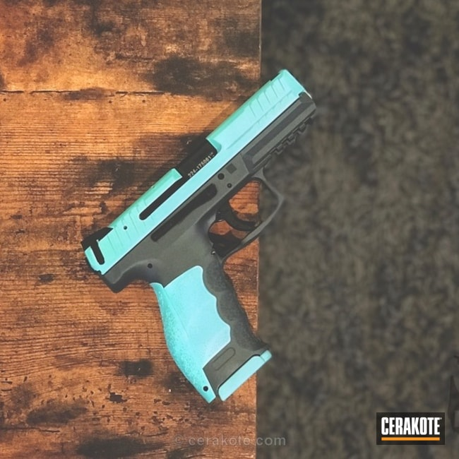 HKVP9 Handgun Refinished in Robin's Egg Blue