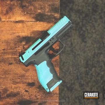 Cerakoted Hkvp9 Handgun Refinished In Robin's Egg Blue