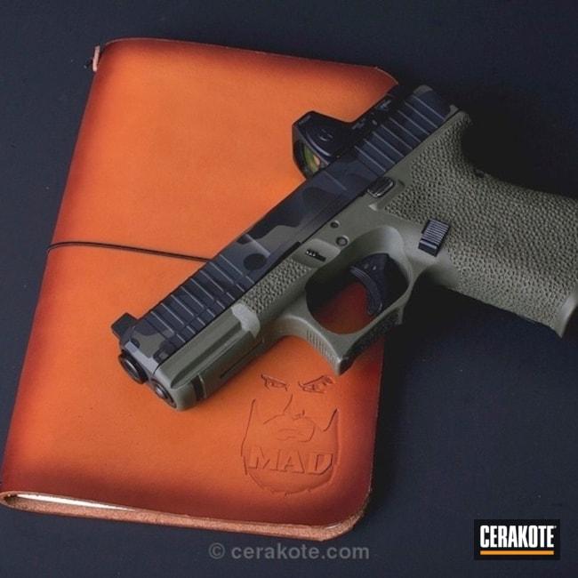 Cerakoted Custom Glock 19 In A Mad Land Cerakote Camo Finish