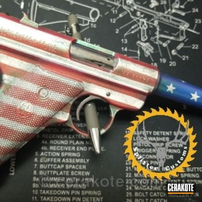 American Flag Ruger Mark I