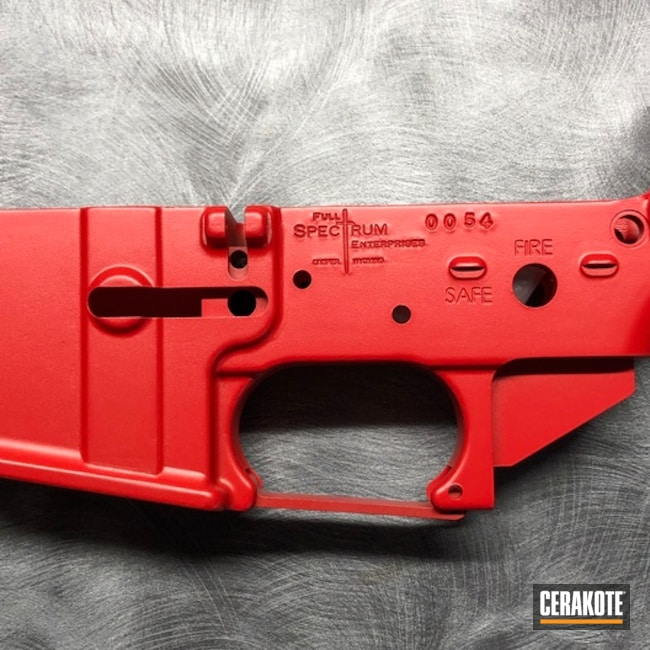 USMC Red Cerakote on this Lower Receiver