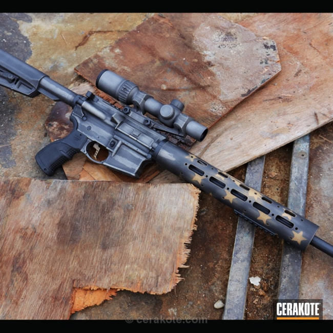 Distressed American Flag Ruger AR-15