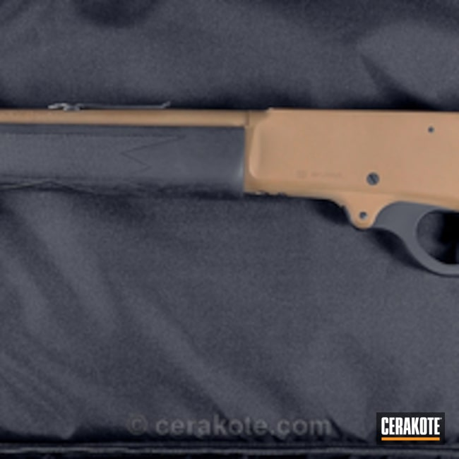 Two Toned Graphite Black and MagPul FDE Marlin Rifle