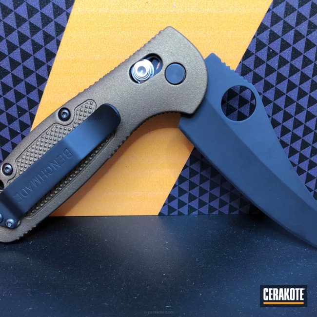 Two Toned Cerakoted Benchmade Folding Knife