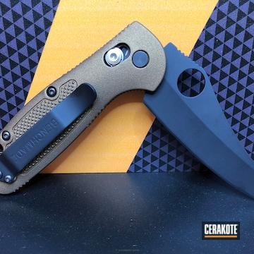 Cerakoted Two Toned Cerakoted Benchmade Folding Knife