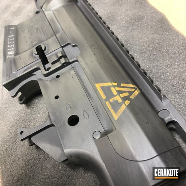Black Creek Labs Upper / Lower / Handguard in a Distressed Cerakote Finish