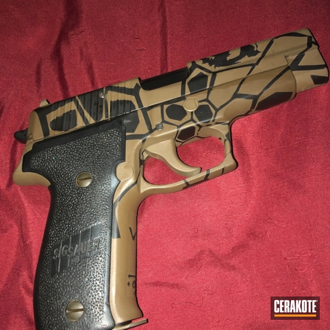 Smaller version of the 1st project picture. Sig Sauer, Pistol, Sig Sauer P226, Burnt Bronze H-148Q, Armor Black H-190Q