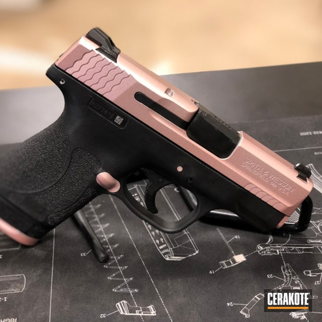 "Thumbnail image for project ""Smith & Wesson M&P Shield Handgun in a Cerakote Rose Gold Finish"""