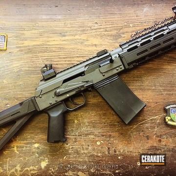 Cerakoted Ak Shotgun Done In Magpul O.d. Green And Graphite Black