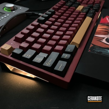 Cerakoted Custom Mixed Color Matched Keyboard