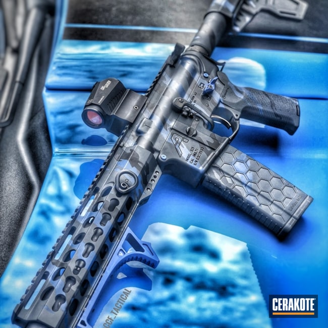 "Thumbnail image for project ""Sig Sauer Tactical Rifle in a Cerakote Urban Tiger Stripe Camo Finish"""