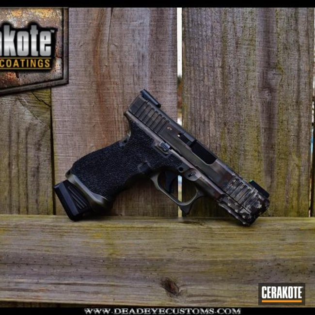 "Thumbnail image for project ""Custom Glock in a Cerakote Grunge American Flag Finish"""