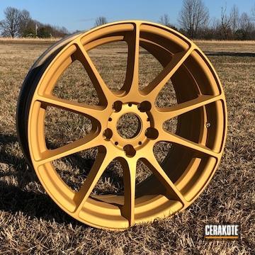 Cerakoted Custom Wheels In Cerakote H-122 Gold