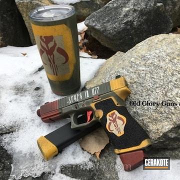 Cerakoted Boba Fett Themed Handgun And Matching Tumbler Cup