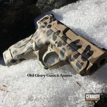 Cerakoted Cerakote Cheetah Print On This M&p Shield Handgun