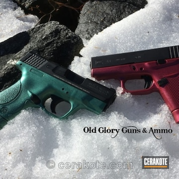 Cerakoted Christmas Themed Cerakote / Gun Candy Finishes