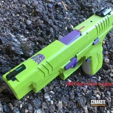 Cerakoted Custom Transformer Themed Pistol, Mug And Bottle Opener