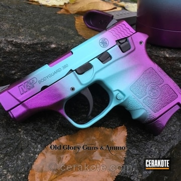 Cerakoted Ladies M&p Bodyguard 380 In A Purple And Blue Candy Finish