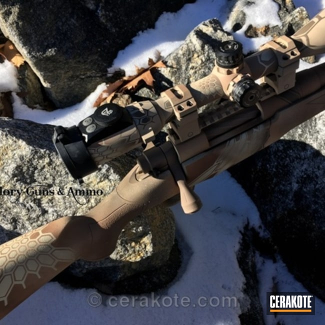 Cerakoted: Bolt Action Rifle,MAGPUL® FLAT DARK EARTH H-267,Precision,Mossberg,.308 Win,.308,Kryptek,Scope,Custom,Desert Sand H-199,Patriot Brown H-226,Long Range,Long Range Gun,Copper Brown H-149,Long Range Rifle