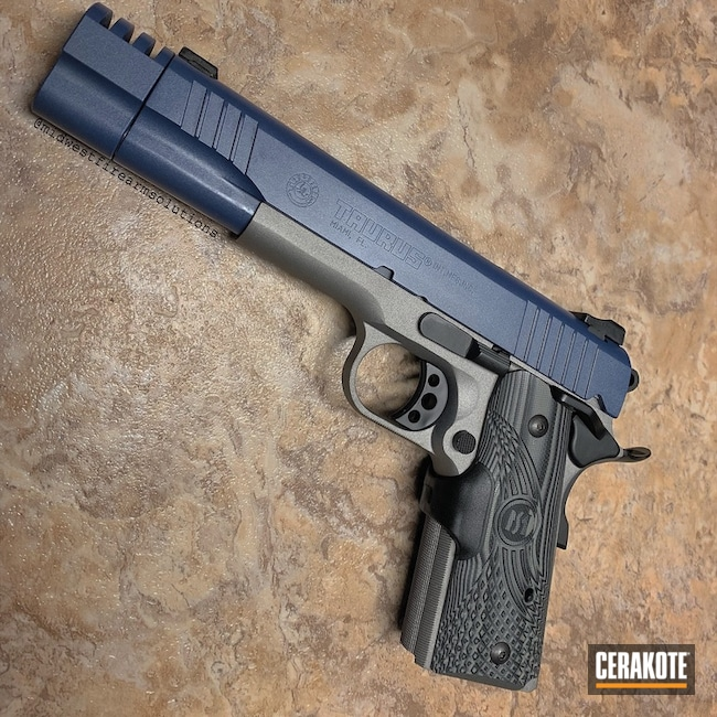 "Thumbnail image for project ""Two Tone Cerakote Taurus 1911 Handgun"""