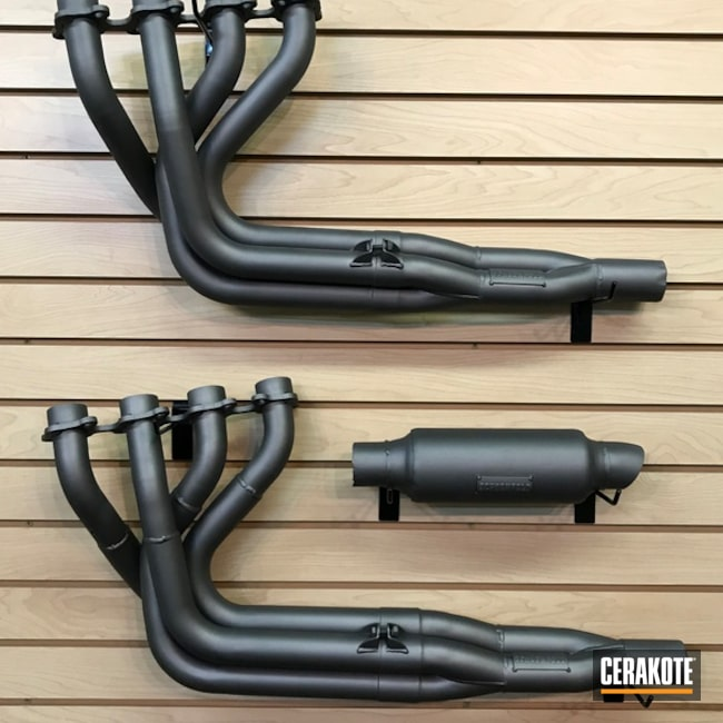 Headers and Exhaust coated in Cerakote C-129 Stainless