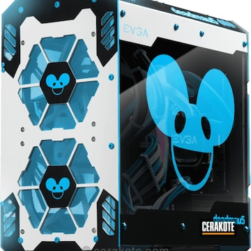 Cerakoted Music Themed Deadmau5 Computer Tower