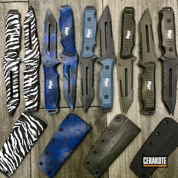Cerakoted Custom Cerakoted Knife Blades And Knife Sheaths