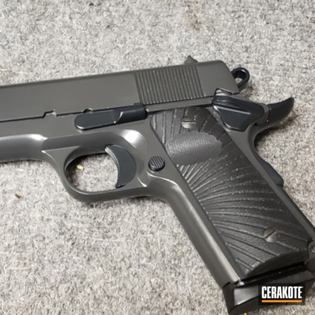 "Thumbnail image for project ""Restored Rock Island Armory Handgun in Cerakote Elite Midnight and Smoke"""