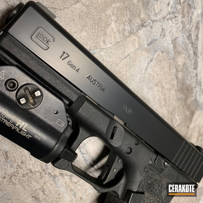 "Thumbnail image for project ""Custom Glock Slide done in E-100 Blackout"""