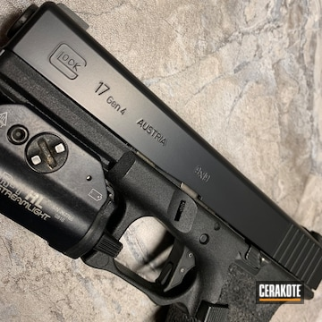 Cerakoted Custom Glock Slide Done In E-100 Blackout