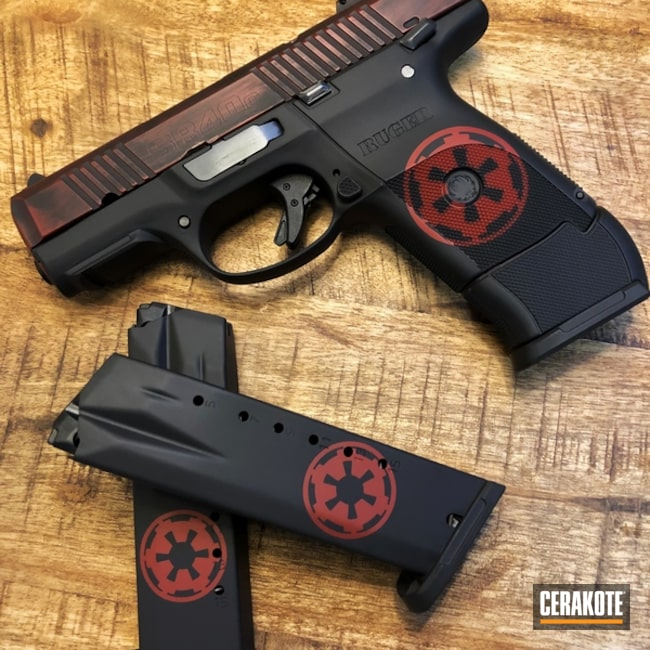 Ruger SR40 in a custom Star Wars Themed Finish