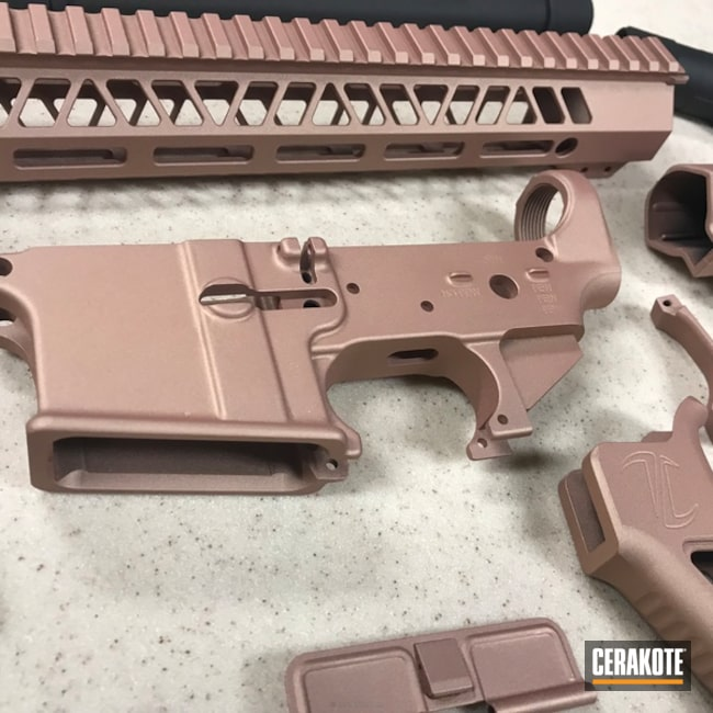 "Thumbnail image for project ""Gun Parts in a Cerakote Rose Gold Finish"""