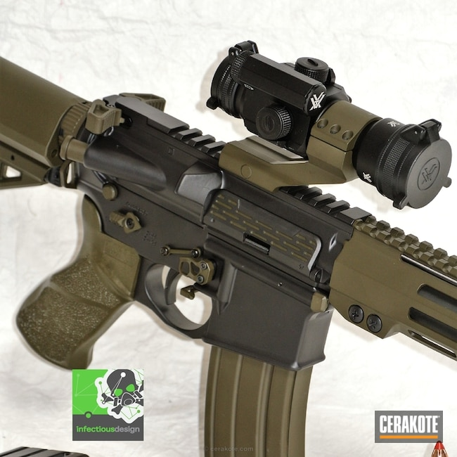 "Thumbnail image for project ""Two Toned AR-15 in Cerakote MagPul O.D. Green and Elite Blackout"""