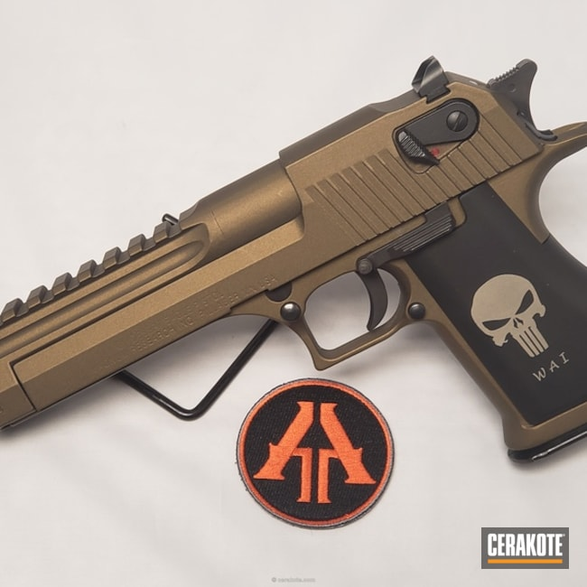 "Thumbnail image for project ""IWI Desert Eagle in a Cerakote Burnt Bronze Finish"""