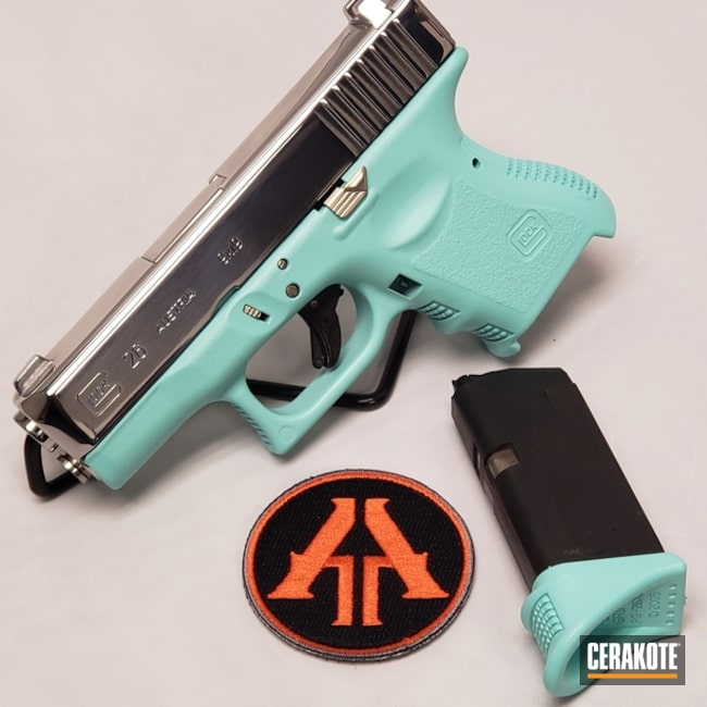 "Thumbnail image for project ""Glock 26 Handgun in a Cerakote Robin's Egg Blue Finish"""