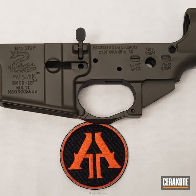 "Thumbnail image for project ""Palmetto Sate Armory AR Lower done in Cerakote H-232 MagPul O.D. Green"""