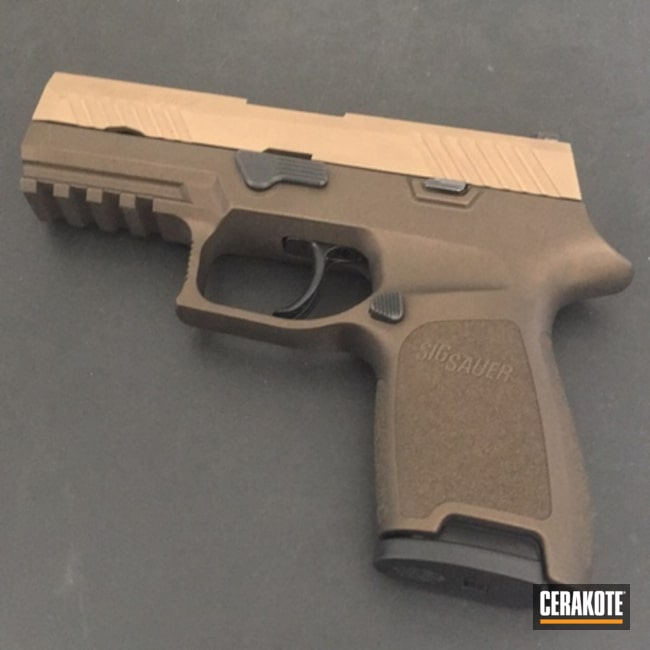 Sig Sauer P320 Handgun done in H-294 Midnight Bronze