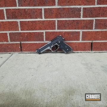 Cerakoted Beretta 92fs Handgun In Cerakote Graphite Black And Stainless