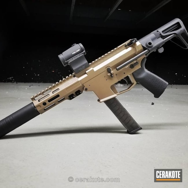 Cerakoted: 9mm,20150 Coyote C-190,AR Pistol,Two Tone