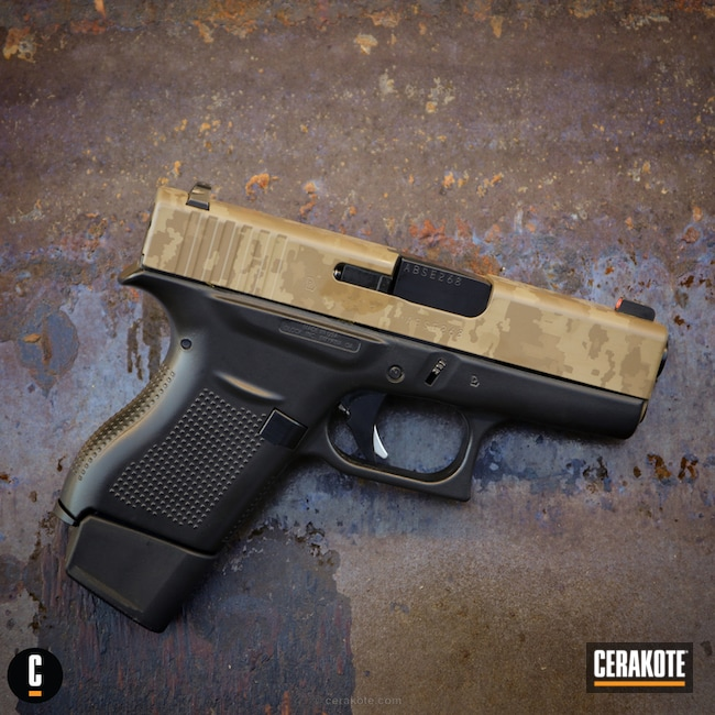 3D Laser Imaged Glock With Custom Camo
