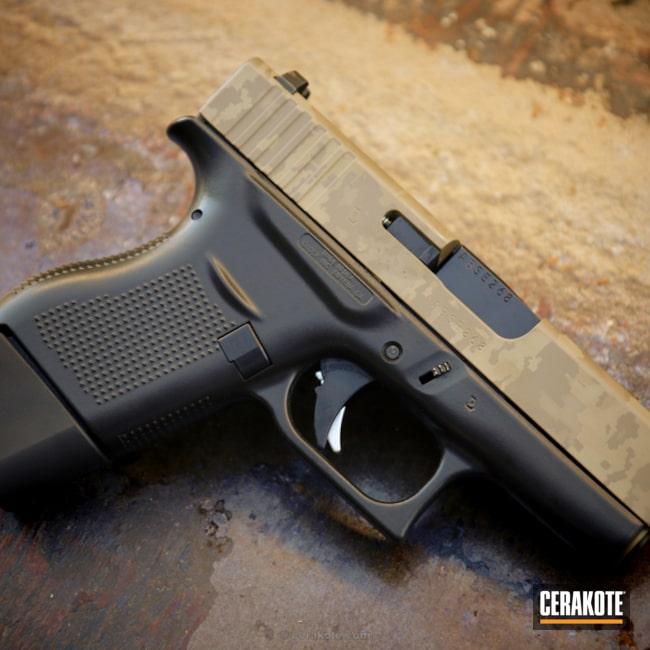 Cerakoted: Cerakote Elite Series,FDE E-200,Pistol,Glock,Laser Imaging,Handguns,Custom Camo,Laser