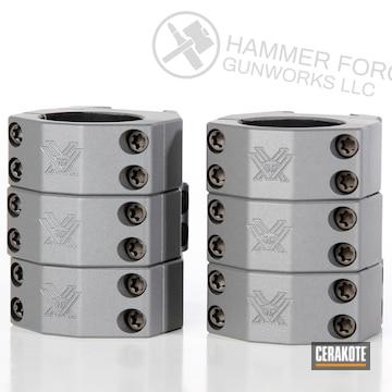 Cerakoted Scope Rings Done In Cerakote E-160 Concrete And H-151 Satin Aluminum