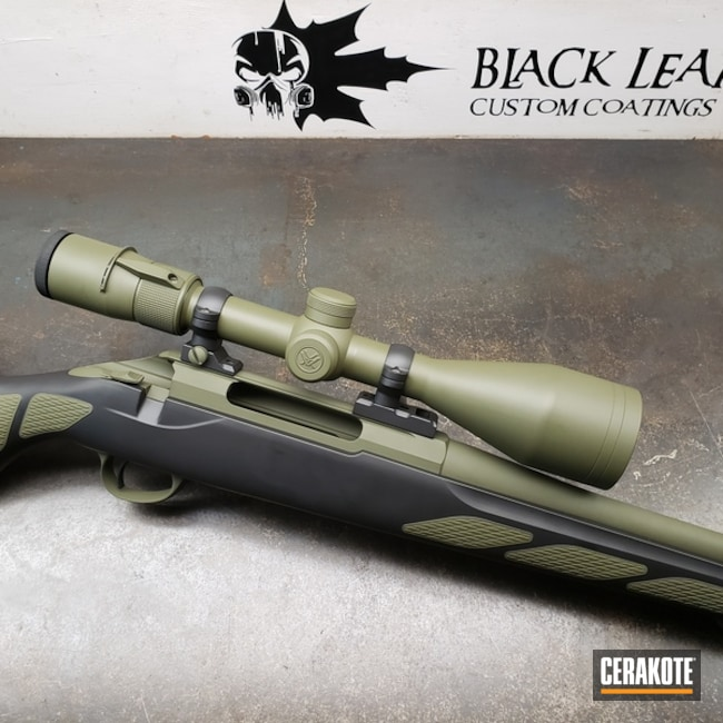 Bolt Action Rifle done in H-146 Graphite Black and H-229 Sniper Green