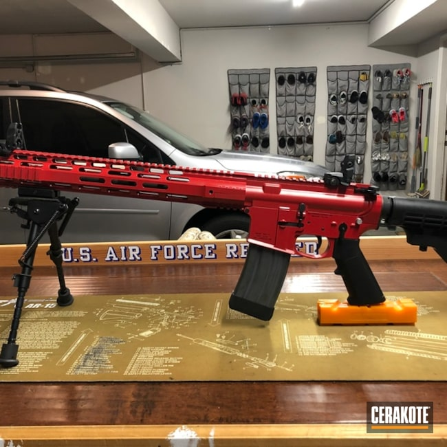 Tactical Rifle done in Cerakote H-167 USMC Red