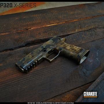 Cerakoted Sig Sauer Handgun In A Custom Cerakote Camo Finish