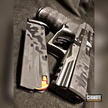 Cerakoted Walther Ppq In A Cerakote Flecktarn Camo Finish